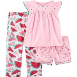 c3aae8b01a071 Carters 2 Pc Giddy Up Its Bedtime Pajama Set Toddler Girls Pink 4T ...