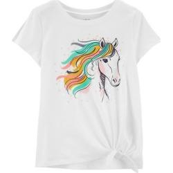 Carters Little Girls Sequin Horse Tie Front T-Shirt
