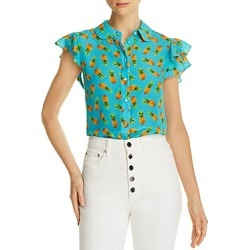 Alice + Olivia Ziggy Pineapple Print Silk Blouse found on MODAPINS from Bloomingdales UK for USD $312.11