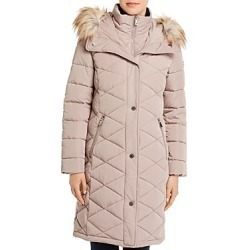 Calvin Klein Diamond-Quilted Faux Fur-Trim Puffer Coat found on Bargain Bro India from Bloomingdale's Australia for $188.34