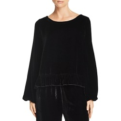 Chaser Ruffle-Trim Velvet Pullover Top found on Bargain Bro India from bloomingdales.com for $89.60