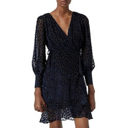 The Kooples Polka Dot Burnout Velvet Wrap Dress found on Bargain Bro from Bloomingdales Canada for USD $115.59