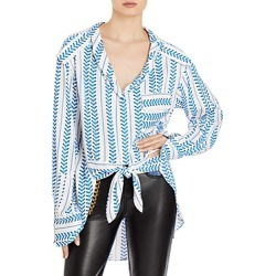 Hellessy Erin Tie Front Blouse found on MODAPINS from bloomingdales.com for USD $890.00