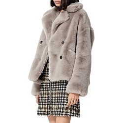 The Kooples Cropped Faux Fur Coat found on MODAPINS from Bloomingdales UK for USD $228.80