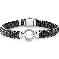 Lagos Black Caviar Ceramic Bracelet with Sterling Silver and Diamonds found on Bargain Bro India from Bloomingdales Canada for $1552.37