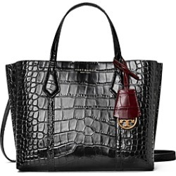 Tory Burch Perry Small Embossed Leather Triple Compartment Tote found on Bargain Bro UK from Bloomingdales UK