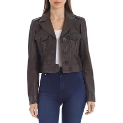Avec Les Filles Cropped Leather Jacket found on Bargain Bro UK from Bloomingdales UK