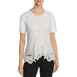 Tory Burch Crochet-Front Tee found on Bargain Bro UK from Bloomingdales UK