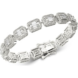 Bloomingdale's Diamond Mosaic Statement Bracelet in 14K White Gold, 4.0 ct. t.w. - 100% Exclusive found on Bargain Bro UK from Bloomingdales UK