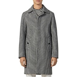 Sandro Houndstooth Slim Fit Coat