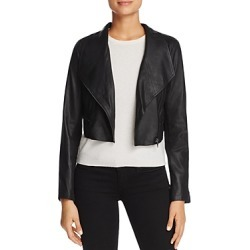 Bb Dakota Shiloh Cropped Leather Biker Jacket found on Bargain Bro India from bloomingdales.com for $355.00