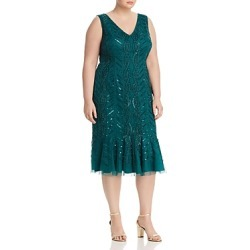 Adrianna Papell Plus Beaded Flounce Hem Dress found on Bargain Bro India from Bloomingdales Canada for $175.52