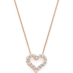 Diamond Heart Pendant Necklace in 14K Rose Gold, .25 ct. t.w. - 100% Exclusive found on Bargain Bro UK from Bloomingdales UK