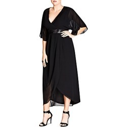 City Chic Embellished Faux-Wrap Maxi Dress found on Bargain Bro Philippines from Bloomingdales Canada for $125.36