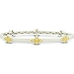 Freida Rothman Fleur Bloom Clover Station Bangle Bracelet in 14K Gold-Plated & Rhodium-Plated Sterling Silver found on Bargain Bro Philippines from Bloomingdales Canada for $226.80