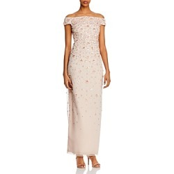 Adrianna Papell Beaded Off-the-Shoulder Gown found on Bargain Bro India from Bloomingdales Canada for $156.64