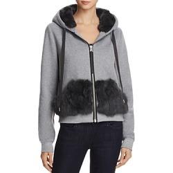Jocelyn Rabbit Fur Trim Sweatshirt found on MODAPINS from bloomingdales.com for USD $250.00