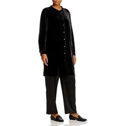 Eileen Fisher Plus Velvet Tunic Top