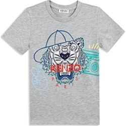 Kenzo Boys' Hip Hop Tiger Tee - Little Kid