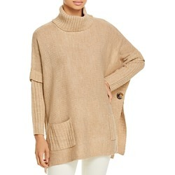 Alison Andrews Turtleneck Poncho Sweater