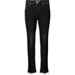 Amo Babe Frayed Straight Jeans in Black Magic found on MODAPINS from Bloomingdales UK for USD $273.53