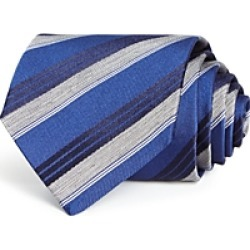 The Men's Store at Bloomingdale's Woven Stripe Classic Tie - 100% Exclusive