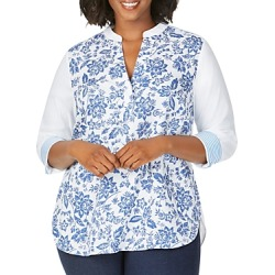 Foxcroft Plus Colette Mixed-Print High/Low Top