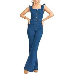 Show Me Your Mumu Rhea Ruffled Denim Jumpsuit found on Bargain Bro UK from Bloomingdales UK