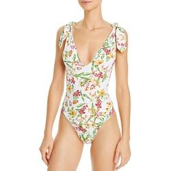 Aqua Swim Floral Halter Plunge One Piece Swimsuit - 100% Exclusive