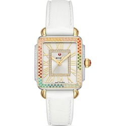 Michele Deco Mid Rainbow Diamond Watch, 29mm x 31mm found on MODAPINS from bloomingdales.com for USD $2295.00