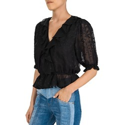 The Kooples Dot-Embroidered Peplum Blouse found on Bargain Bro Philippines from bloomingdales.com for $95.20