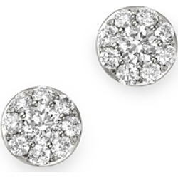 Bloomingdale's Diamond Circle Tiny Stud Earrings in 14K White Gold, 0.5 ct. t.w. - 100% Exclusive found on Bargain Bro UK from Bloomingdales UK