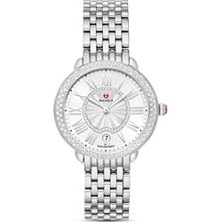 Michele Serein Mid Two-Tone Stainless Steel Diamond Watch, 34mm x 36mm found on MODAPINS from bloomingdales.com for USD $1995.00