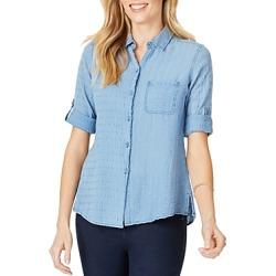 Foxcroft Zen Textured Cotton Shirt