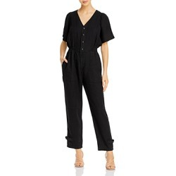 Joie Bramwell Linen Smocked-Waist Jumpsuit found on MODAPINS from bloomingdales.com for USD $193.70