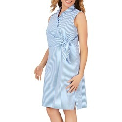 Foxcroft Striped Wrap Dress found on MODAPINS from Bloomingdales UK for USD $73.76