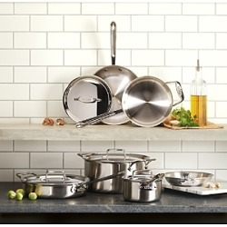 All-Clad D5 Stainless Brushed 5-Ply Bonded 10-Piece Cookware Set found on Bargain Bro from Bloomingdales Canada for USD $633.70