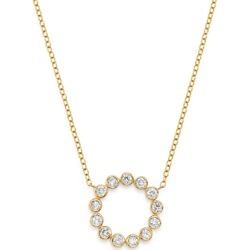 Bloomingdale's Diamond Circle Pendant Necklace in 14K Yellow Gold, 0.50 ct. t.w. - 100% Exclusive found on Bargain Bro UK from Bloomingdales UK