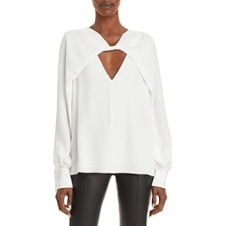 Jason Wu Silk Twist Front Cutout Blouse found on MODAPINS from bloomingdales.com for USD $795.00