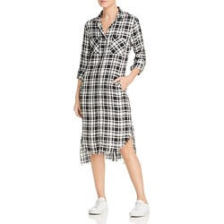 Billy T Plaid High/Low Shirt Dress