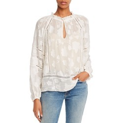 Joie Chaylse Floral Embroidery Lace Trim Blouse found on MODAPINS from bloomingdales.com for USD $152.90