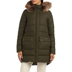 Barbour Stein Hooded Faux Fur Trim Coat found on MODAPINS from bloomingdales.com for USD $600.00