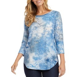 Karen Kane Tie-Dyed Burnout-Textured Top found on Bargain Bro Philippines from bloomingdales.com for $55.30