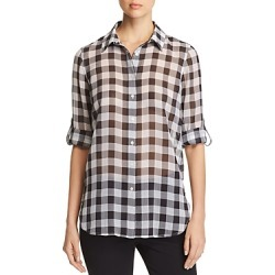 Calvin Klein Semi-Sheer Gingham Shirt