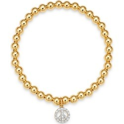 Zoe Lev 14K Yellow Gold Diamond Peace Charm Beaded Bracelet found on Bargain Bro India from Bloomingdale's Australia for $624.48