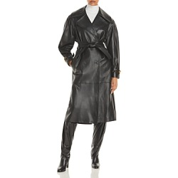 Alberta Ferretti Nappa Leather Trench Coat found on MODAPINS from Bloomingdale's Australia for USD $2840.32