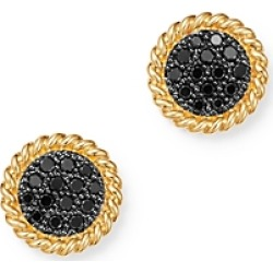 Bloomingdale's Black Diamond Disc Earrings in 14K Yellow Gold, 0.27 ct. t.w. - 100% Exclusive found on Bargain Bro India from bloomingdales.com for $1400.00