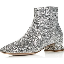 Miu Miu Women's Rocchetto Crystal Embellished Booties found on Bargain Bro India from bloomingdales.com for $950.00