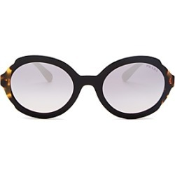 Prada Women's Eiquette Mirrored Round Sunglasses, 53mm found on Bargain Bro Philippines from bloomingdales.com for $290.00