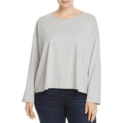 Eileen Fisher Plus Speckled Knit Tee